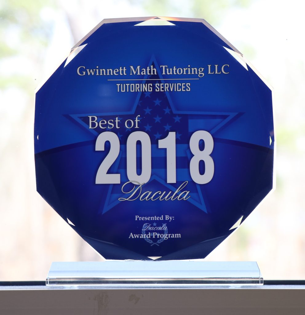 "GMT won ""Best of Dacula"" for Tuoring Services in 2018!"